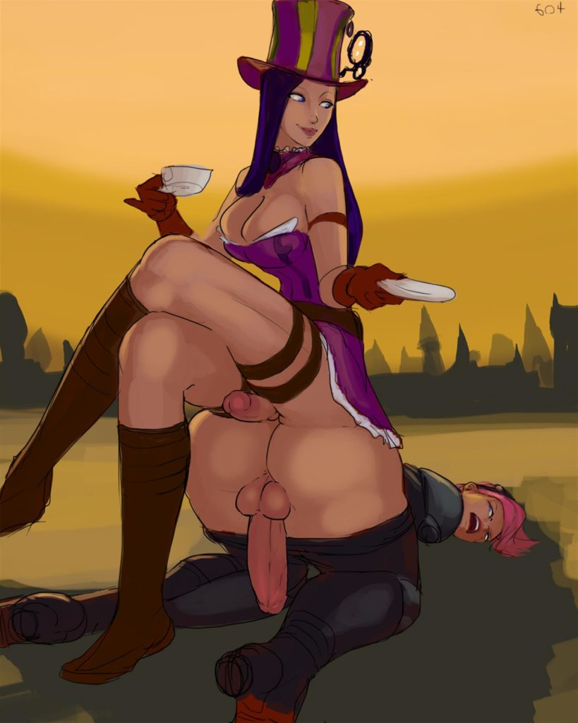 Caitlyn sitting on VI's nude ass