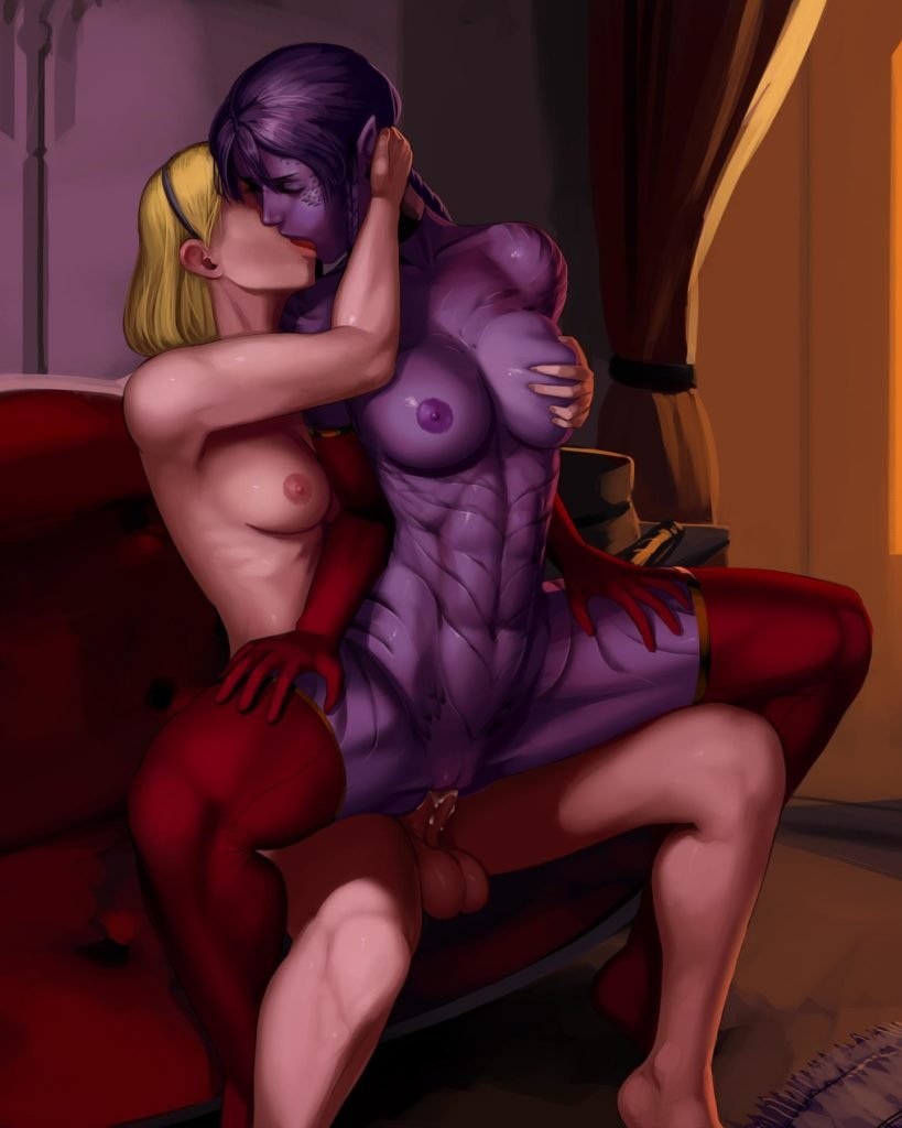 Lux and Shyvana having futa sex
