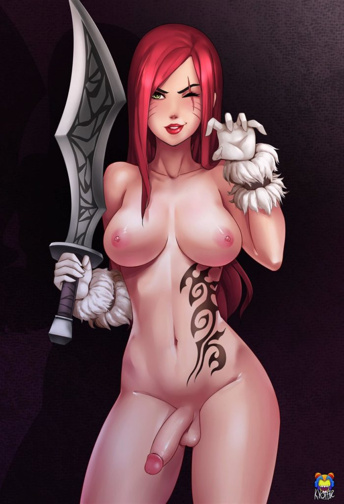 Futa Katarina posing with her sword