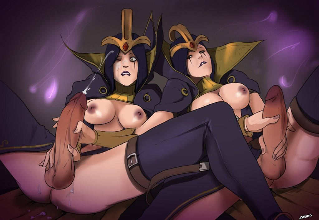 Two futa Leblanc clones jerking each other off