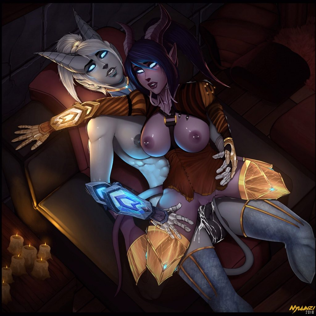Futanari draenei girls having futa on female sex
