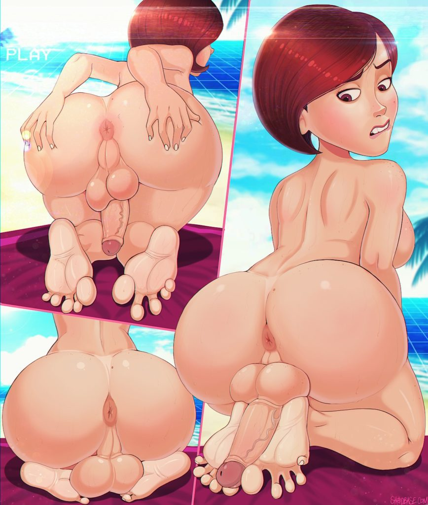 Big ass Helen Parr spreading her thick ass