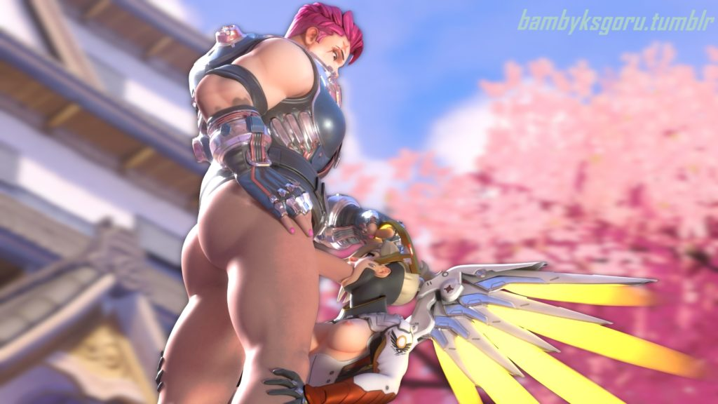 Babykgoru - Futa Zarya fucking Mercy's mouth Overwatch 3d hentai cartoon porn rule 34
