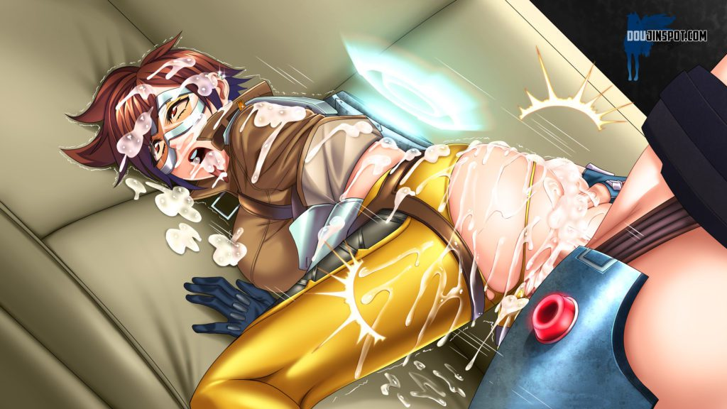 Cyberunique - Futa Zarya fucking Tracer whos covered in cum Overwatch hentai porn cartoon rule 34