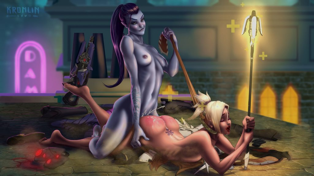 Kronlin - Mercy Futa Widowmaker Overwatch porn cartoon rule 34 hentai nudes