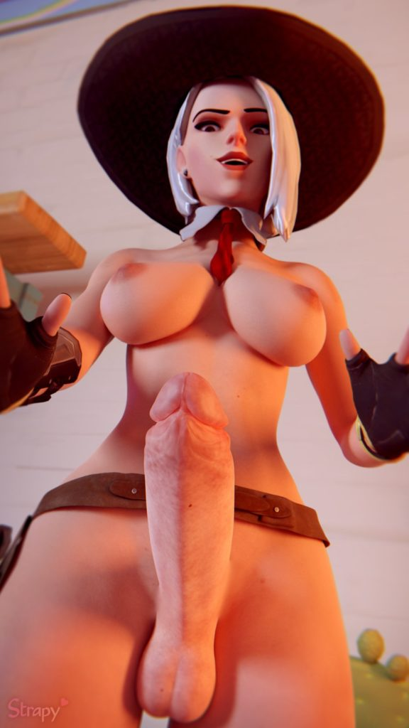 Strapy - Futa Ashe Overwatch porn cartoon rule 34 hentai nudes