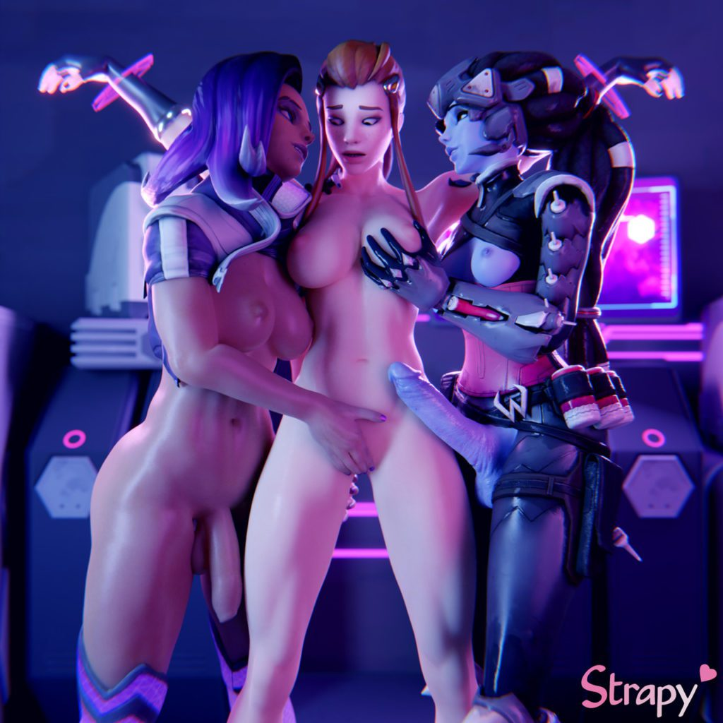 Strapy - Futa Widowmaker Overwatch porn cartoon rule 34 hentai nudes