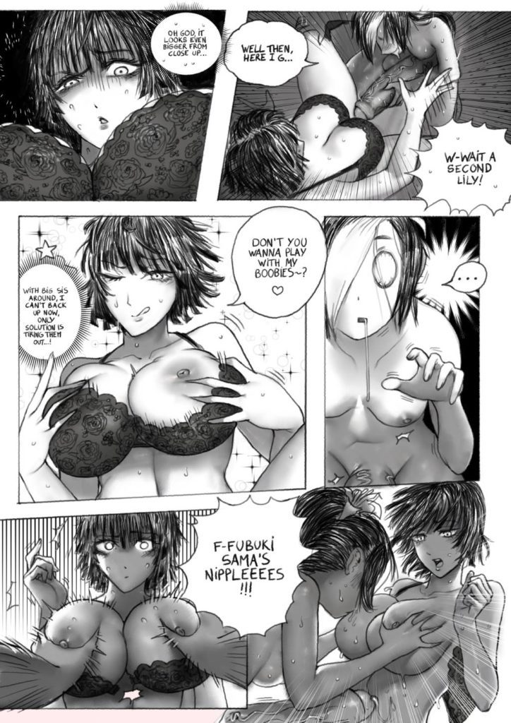 Thegoldensmurf - Futa Tatsumaki Fubuki and Sansetsukon no Lily One Punch Man hentai rule 34 porn