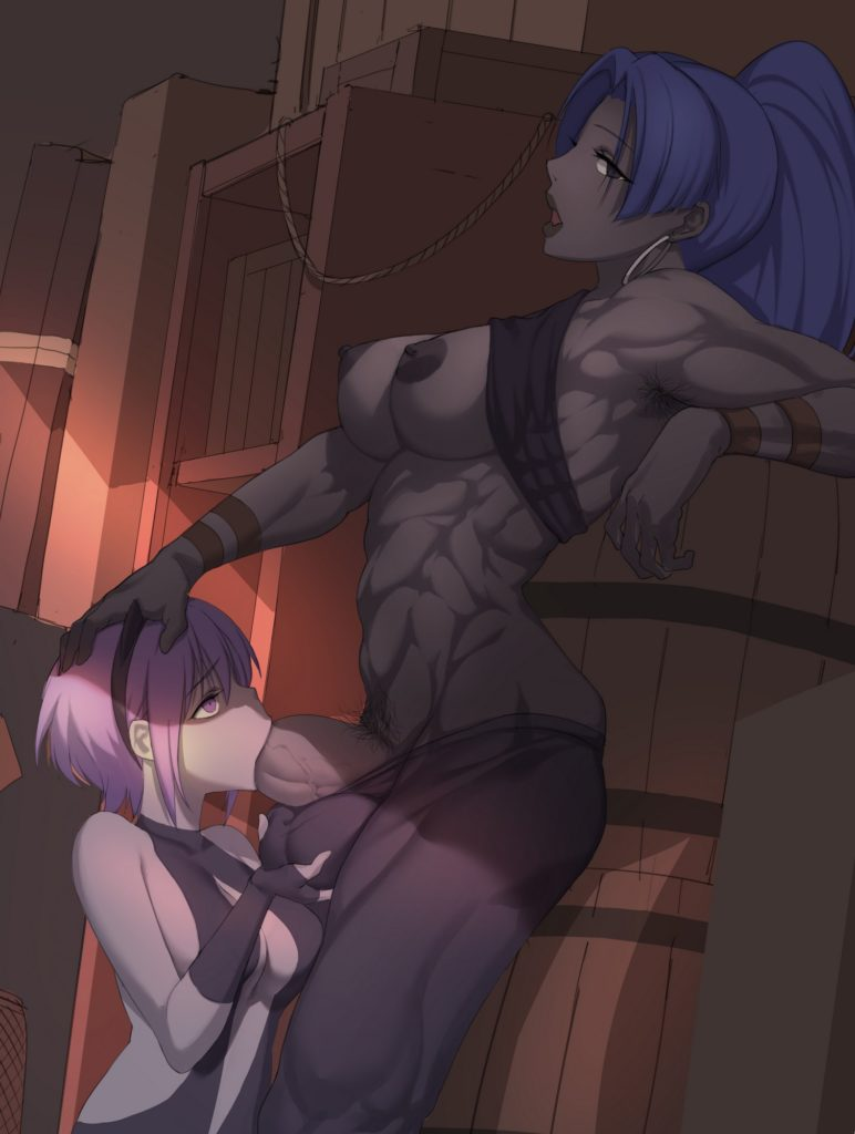 1235(artist) - Futa Female Assassin and Hassan Fate Grand Order hentai rule 34 porn