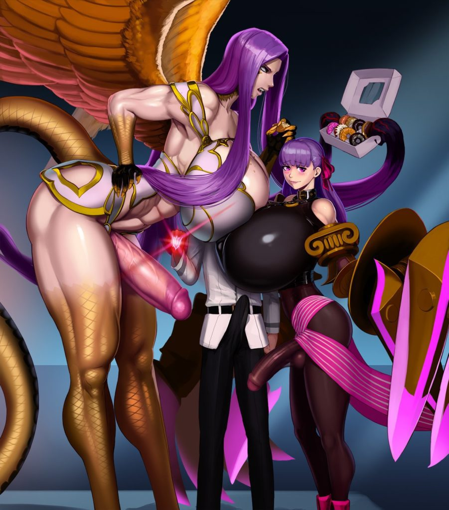 Aka6 - Thick thighs futa Gorgon and Passion Lip Fate Extra hentai rule 34 porn