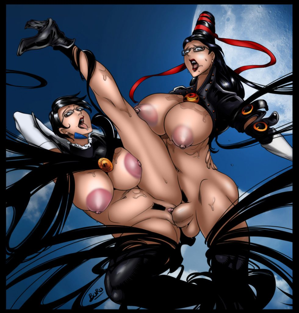 Buru - Big titty futa Bayonetta fucking herself hentai rule 34 porn
