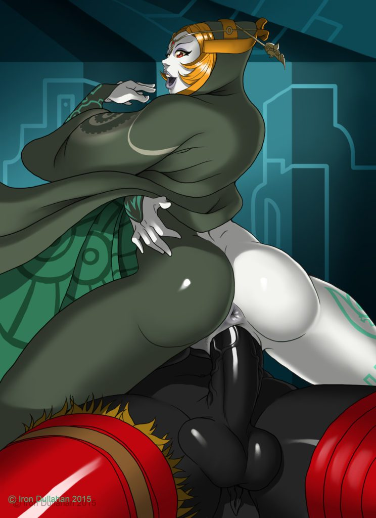 Iron Dullahan - Midna getting fucked by a futa girl Zelda rule 34 hentai porn futanari
