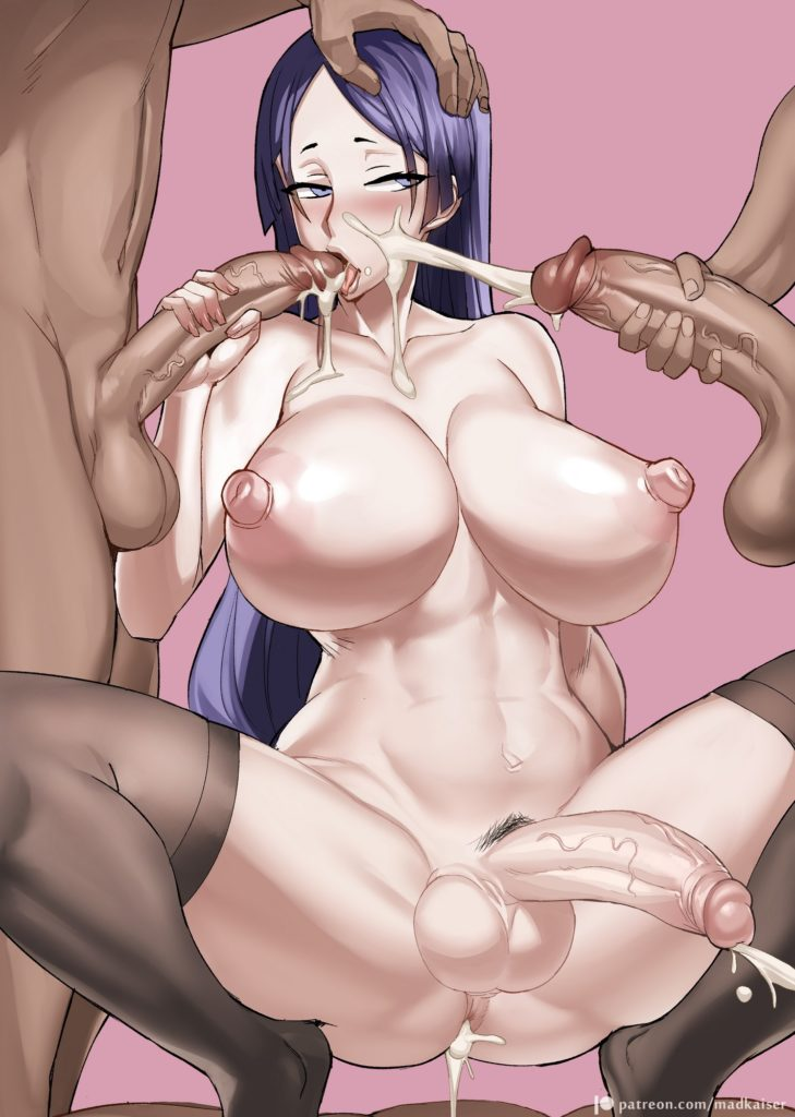 Madkaiser - Futa Minamoto no Raikou sucking dicks Fate Grand Order hentai porn