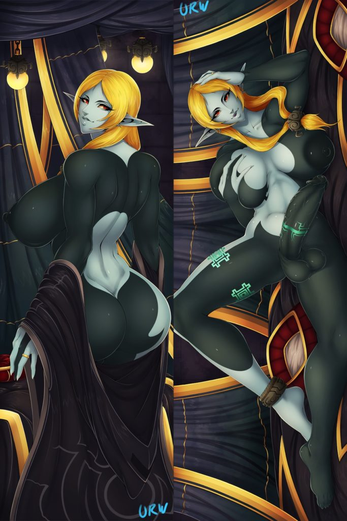Urw - Mature futa Midna with big tits in human form Zelda rule 34 futanari hentai porn