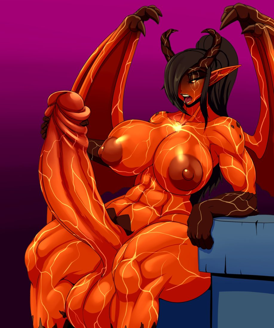 Ber00 - Muscular futanari demon porn