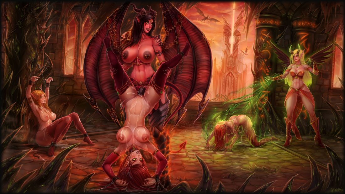 Vempire - Futanari xazariel blood elf demon