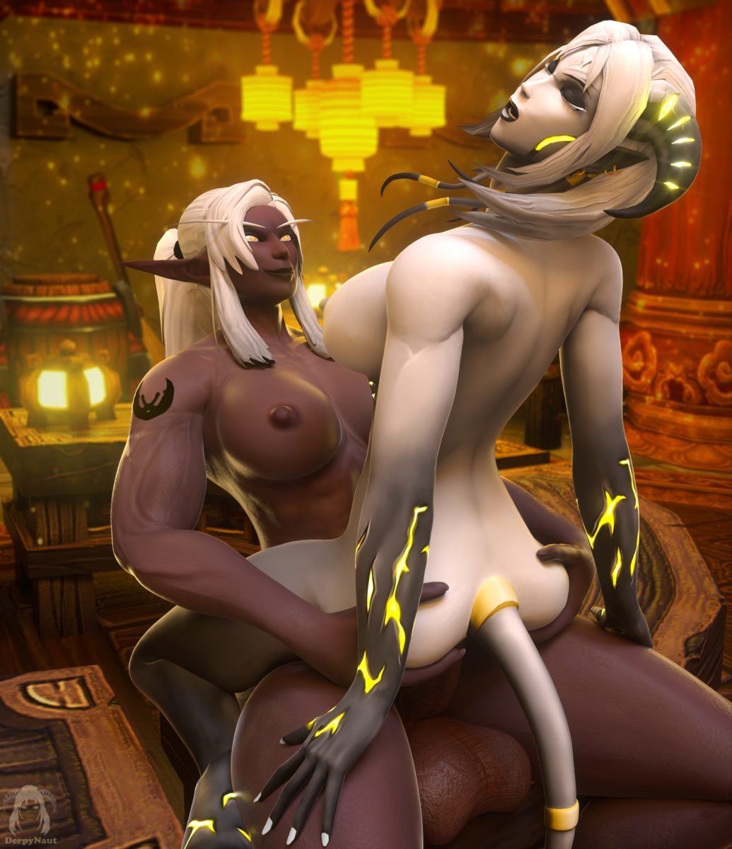 Derpynaut - Futanari draenei night elf world of warcraft hentai rule 34 muscle porn