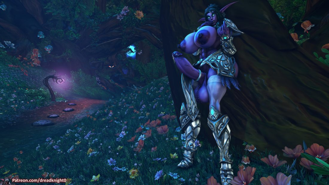 Dreadknight - Futanari Tyrande Whisperwind night elf muscle hentai rule 34 porn