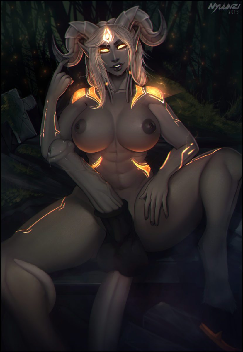 Nyuunzi - Futa lightforged draenei wow