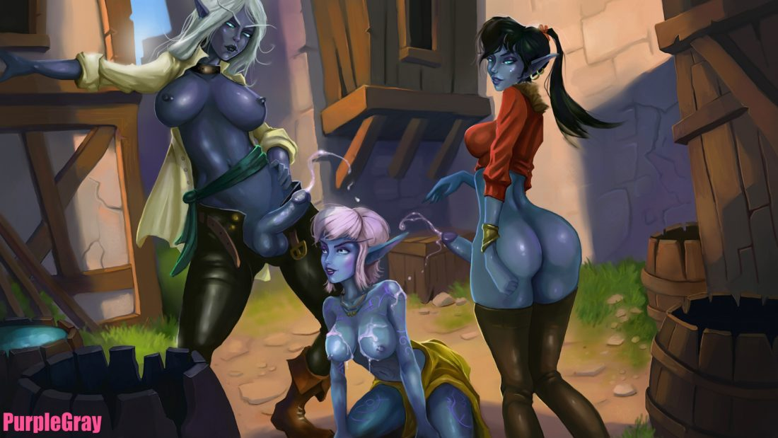 Purplegray - Futa night elf nightborne wow