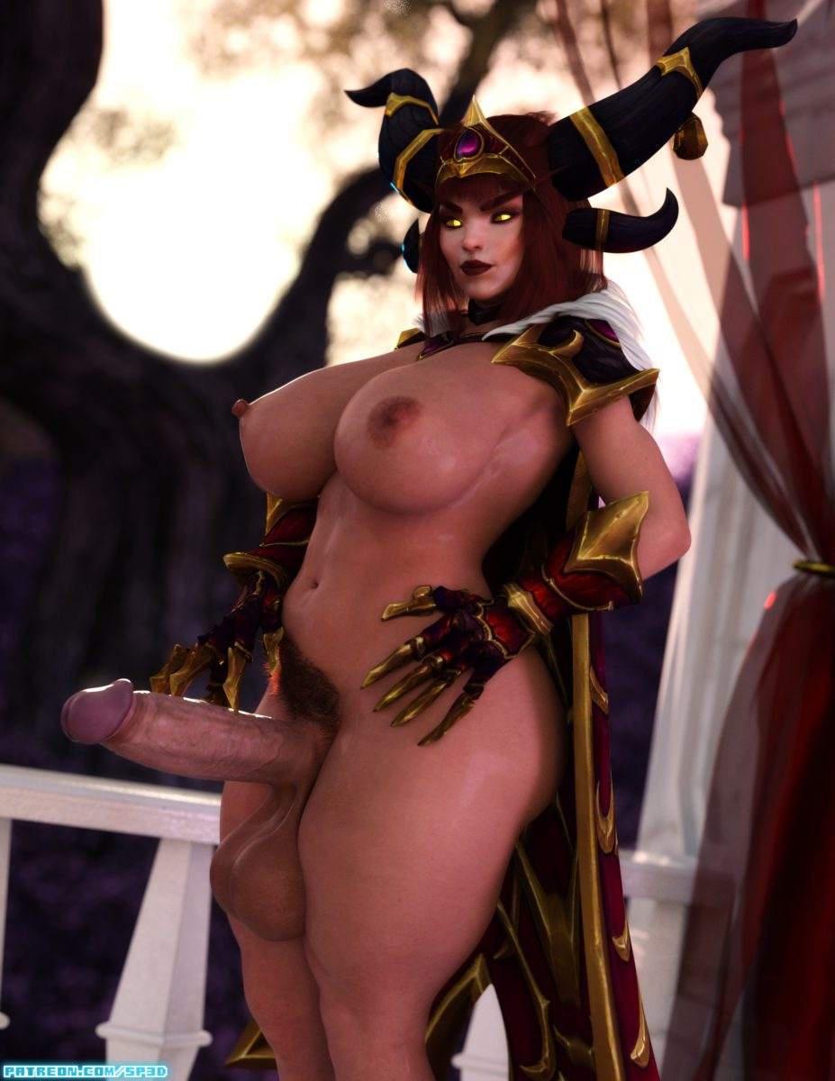 Squarepeg3d - Futa Alexstrasza milf hairy world of warcraft