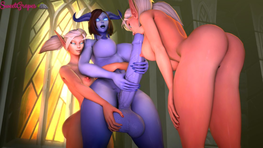 Sweetgrapes0101 - Futa draenei blood elf world of warcraft porn