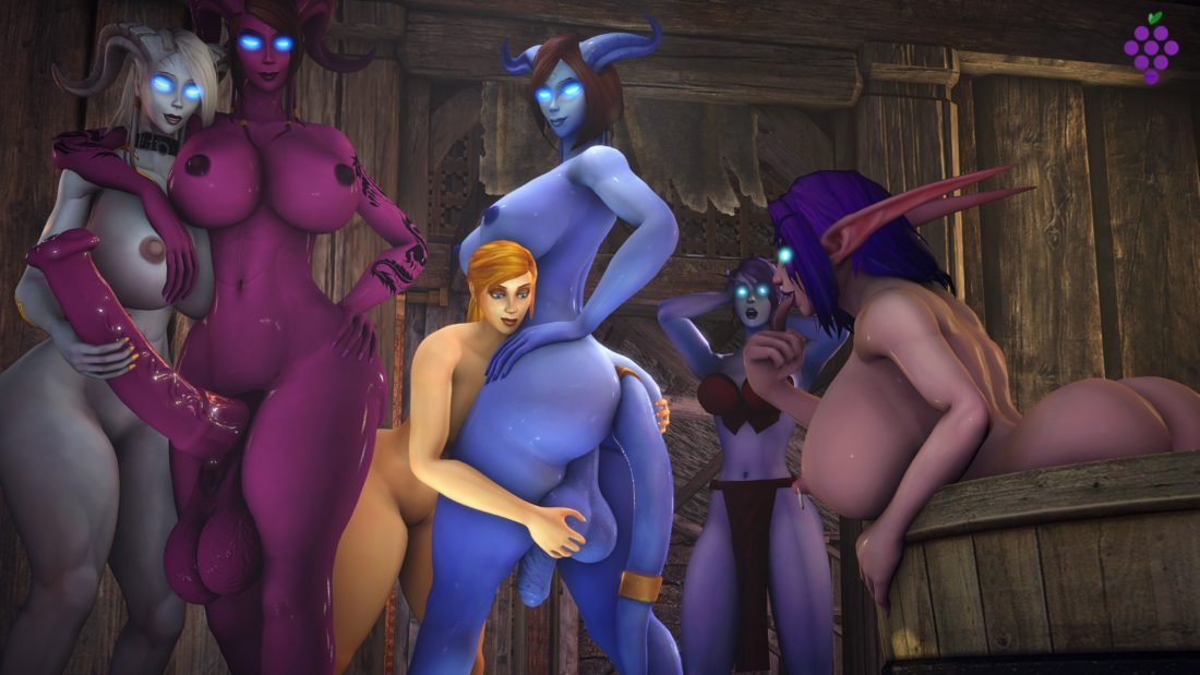 Sweetgrapes0101 - Futa draenei night elf world of warcraft