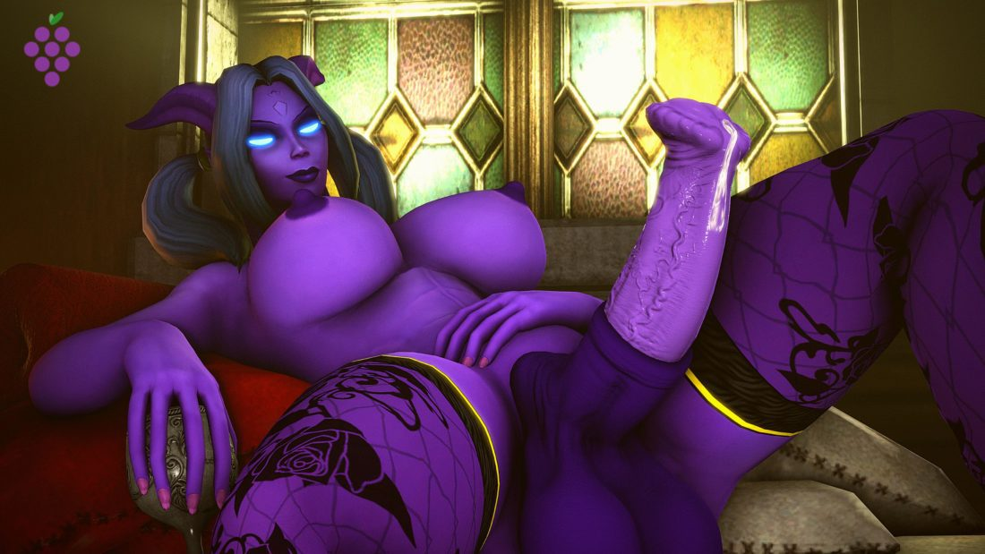 Sweetgrapes0101 - Futa draenei wow 2