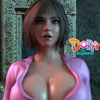 Doree Dora the Explorer porn parody ad banner
